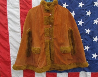 1970's Suede Cape
