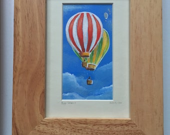 Original framed acrylic painting. 'Bright balloons 2'  Free UK delivery.