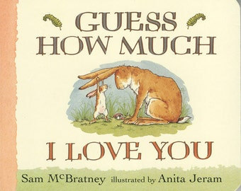 """Vintage Book Cover Print """"Guess How Much I Love You"""" Children's Book - Nursery Decor - Classic Childrens Literature - Kids Room Art Print"""