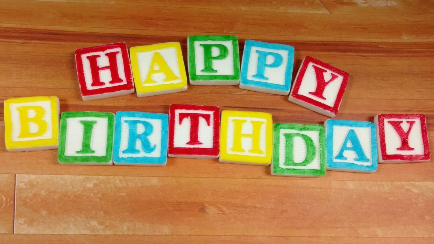 Happy Birthday Letters Happy Birthday Blocks Edible Block