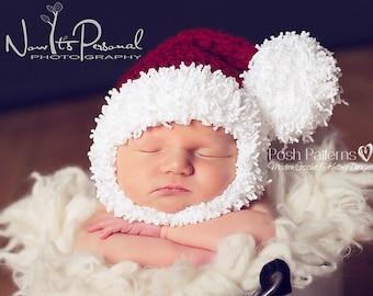 Crochet PATTERN - Crochet Pattern Baby - Santa Hat & Beard - Crochet Pattern Hat - Baby, Toddler, Child, Adult Sizes - Photo Prop - PDF 295