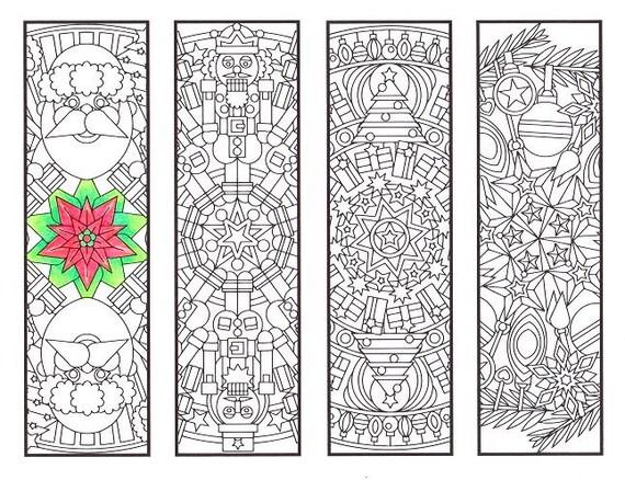 Christmas Coloring Bookmarks Christmas Mandalas coloring