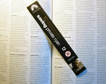 Tom Hanks - Saving Private Ryan - Forrest Gump - Recycled VHS bookmark spine Magnet & Drinks Coaster - New