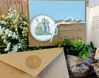 Premium PETER RABBIT thank you cards - By the dozen -A la carte Peter Rabbit party items