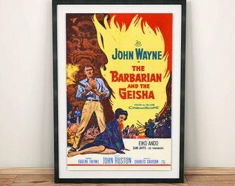 John Wayne The Barbarian and the Geisha Vintage Movie Film Poster
