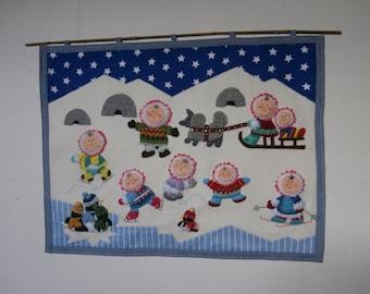 Tapestry - Eskimo - penguin - winter - kids room