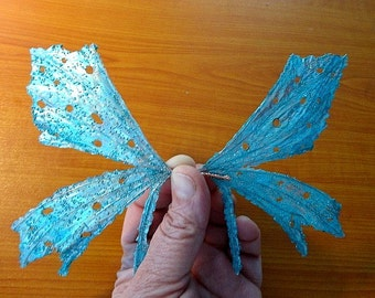 Fairy Wings-Turquoise Flutter-Dolls, Bears-(Made to Order by Request)