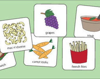 Lunch Food Collection Picture Cards