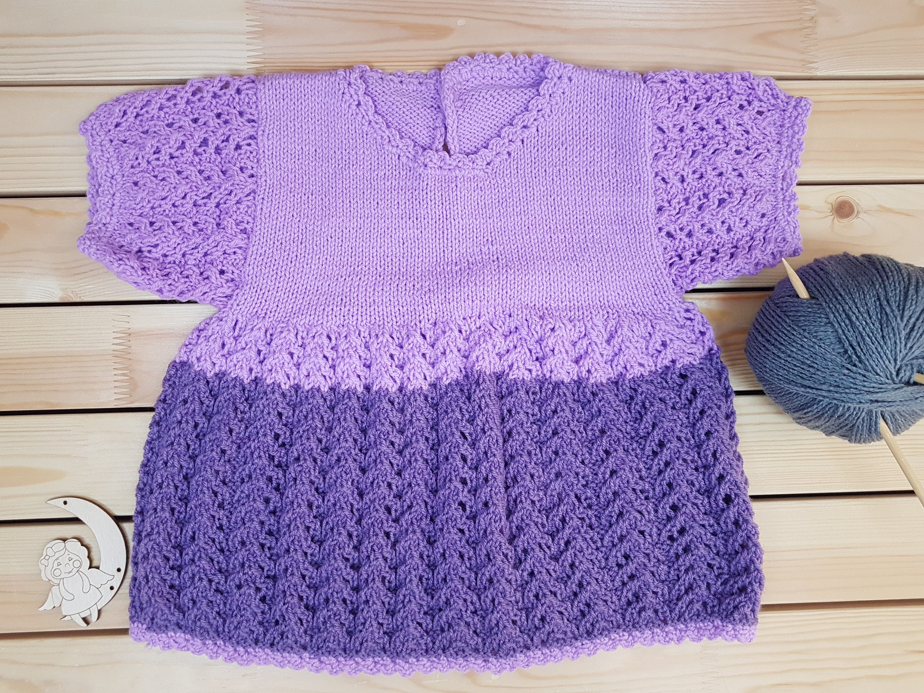 Baby dress Knitted baby dress Baby girl dress Knitted