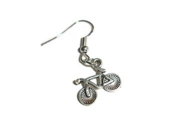 Bicycle Earring Bicyclist Earring Bike Earring Silver Earrings Single earring for him Athlete Earrings Gift for Bicyclist his earring