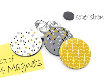 Wooden Fridge Magnet-  Kitchen Magnet - Button Magnets - Decorative Magnets - Refrigerator Magnets - Kitchen Decor - Set of 4 Magnets