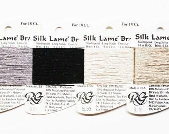 Silk Lame Braid 3.60 Each, Rainbow Gallery Silk Lame Braid 18 Ct, Needlework, Needlepoint Yarns, Needlework Threads, Rainbow Gallery Silks
