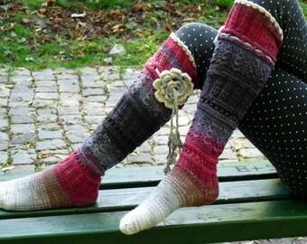 Luxurious Knee High Handknitted Socks