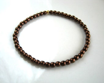Rich Brown Stretch Bracelet Chocolate Brown Bracelet
