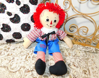 Raggedy Andy Doll, Vintage Raggedy Andy, Cloth Raggedy Andy, Vintage Cloth Doll, Vintage Doll