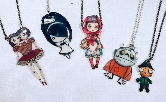 Monster Clan - Choose your whimsical statement necklace.