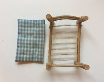 Blue Checkered Bed
