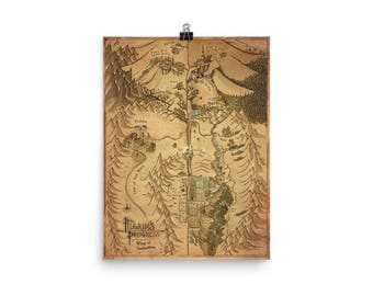 "PRINT) Pilgrim's Progress Map 2 ""Way of Salvation"""