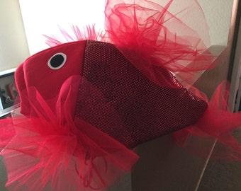 Red  sequin Beta Fish costume