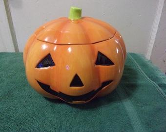 Halloween Jack O Lantern Cookie Jar