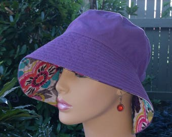 Chemo Hat Sun Hat Floppy Hat Made in the USA Alopecia Hair Loss Hat SMALL-MEDIUM