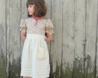 Prairie Outfit- Dress, Apron and Bonnet Sizes 2-12