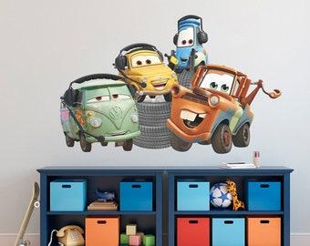 Disney Pixar Cars Wall Decal, Mater, Fillmore, Luigi, Guido Wall Sticker,  Removable Vinyl Sticker, Kids Wall Art, Children Cartoon Decor