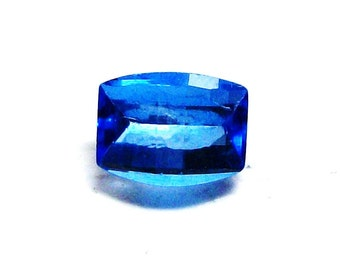 """Electric blue topaz, neon blue topaz, loose topaz, loose barrel cut, faceted topaz, jewelry supplies, """"Royalty"""""""