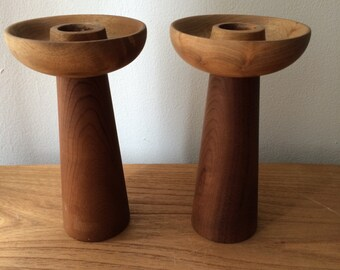 Set of 2 Tall House of Myrtlewood Candle Holders