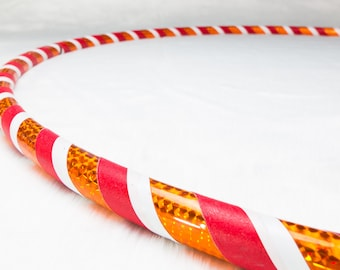 Orange Dreamsicle 3 Tone Classic Dance and Fitness Hula Hoop