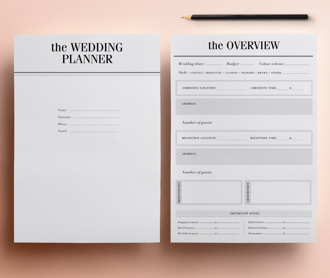 It is a picture of Delicate Printable Wedding Organizer