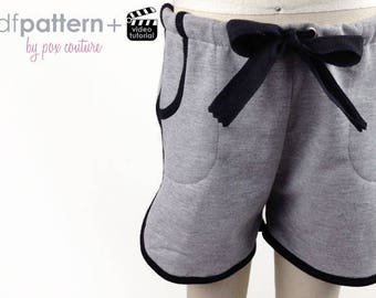 Tyler Knit Shorts - PDF PATTERN and Instructions 2T-6