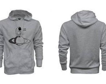 I need Space - Gray hoodie
