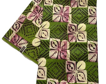 Batik African Print Fabric - Cotton Light Weight Fabric - By the yard - Clothing Fabric  (c3)