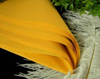48 Golden Butternut Tissue Paper Sheets |  Golden Matte Tissue Sheets | 20 inches by 30 inches | Luxury Gift Tissue | Specialty Gift Wrap