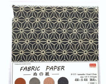 Japanese  Paper 4 Patterns 16 Sheets 15 x 15 cm Fabric Pattern (P41)