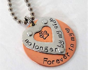 Pet Memorial Necklace - Pet Loss Necklace - Personalized Pet Memorial Jewelry - Dog Loss Jewelry - Cat Loss Jewelry - Dog Lover Necklace