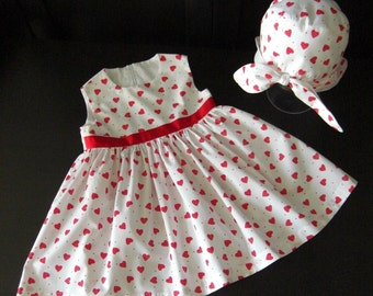 Girl's dress and hat