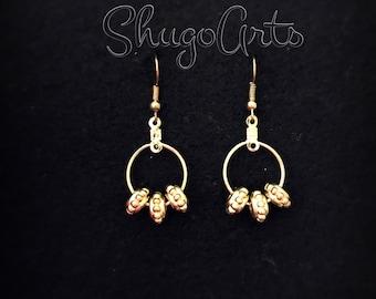 Gold runner earrings