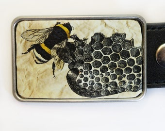 Bee Beehive Belt Buckle