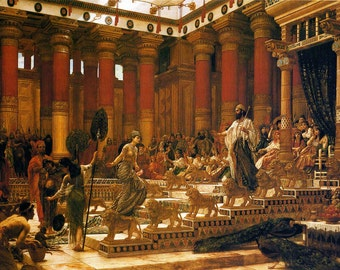 Edward Poynter: The Visit of the Queen of Sheba to King Solomon. Fine Art Print/Poster (00131)