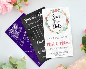 75 x Personalised Wedding 'Save the Date' Magnets