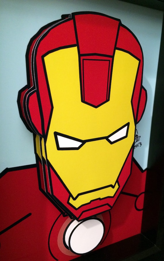 Iron Man Comic Art 3D Pop Art Superhero Comic Book Movie