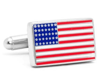 American Flag Cufflinks Cuff Links Comes with Box