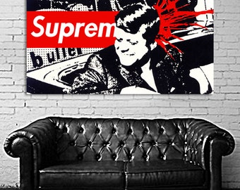 21 Poster Hypebeast Supreme Canvas & Stretcher Bars Frame