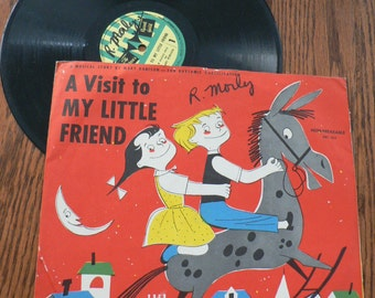 vintage retro rage ... a VISIT to My LITTLE FRIEND  Record from Childrens Record Guild series ...