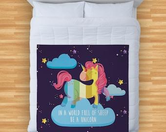 Galaxy Unicorn 2 Colourful  Design Soft Fleece Blanket Cover Throw Over Sofa Bed Blanket