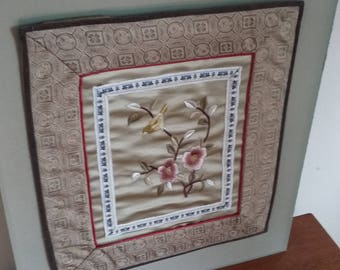 Vintage Oriental Decorative Embroidery.