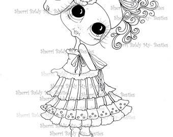 INSTANT DOWNLOAD Digital Digi Stamps Big Eye Big Head Dolls Pinky Pie Bestie By Sherri Baldy