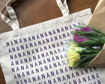 NANA screenprinted shopper tote bag